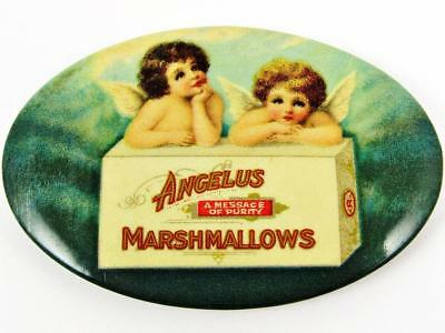 Antique Angelus Marshmallows Advertising Celluloid Pocket Mirror #2