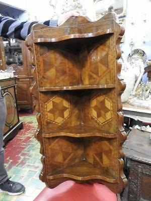 Antique Bookcase Etagere In Bois Of Rose Period Corner Cupboard Period Early 900
