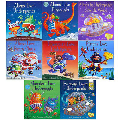 Claire Freedman Aliens Love Underpants 8 Books Collection Set Save the World NEW