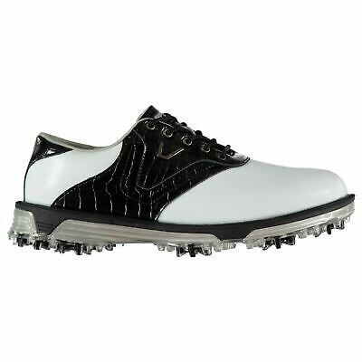 Slazenger Mens V500 Golf Shoes Spiked Lace Up Breathable Waterproof Leather