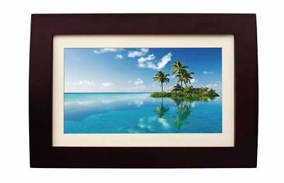 "Sylvania Digital Photo Frame 10"" Wood Finish 2GB Multi-Media Pictures SDPF1089"