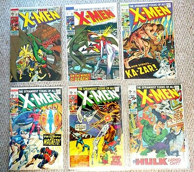 Marvel Uncanny X-Men. vol.1 1969-70 Comics. # 60. 61. 62. 63. 65. 66