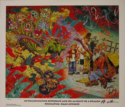 Robert Williams Hallucinating Reprobate Limited Edition Lowbrow Art Print Signed