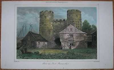1842 print SOUTH GATE, GREAT YARMOUTH, NORFOLK, ENGLAND (#58)