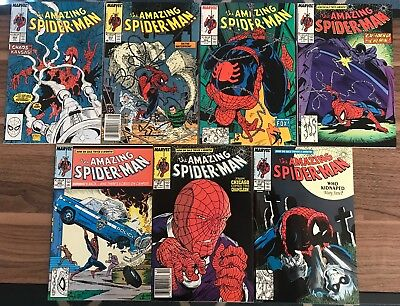 Amazing Spider-Man 302-308, 375. Awesome Todd McFarlane Run. Marvel. VF-NM