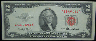 F-1510 1953-A $2 (Red Seal) United States Note