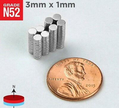 3x1 Tiny Neodymium Craft Magnets 3mm x 1mm (Buy 10, 25, or 50) - 3mmx1mm