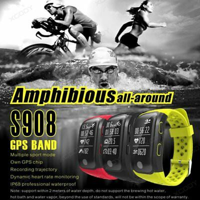 S908 Waterproof IP68 GPS Sports Running Fitness Smart Watch Bracelet Heart Rate