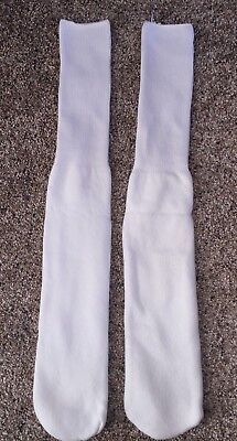 """Vintage Long Over The Calf White Tube Socks 22"""" One Pair New, Unworn No Tags"""