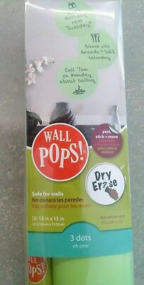Brewster Wall Pops WPE93882 Peel & Stick Oh Pear Dry-Erase Dots with Marker 3...
