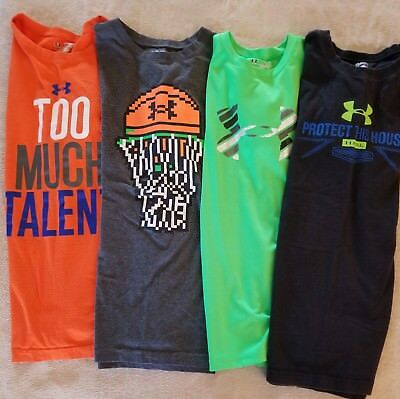 Under Armour Heatgear T-Shirt Lot - Xl - Loose Boys Youth- Guc