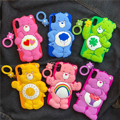 3D Cartoon Rainbow Bear Soft Silicone Phone Case Cover For iPhone 6S/7/8