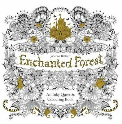 Enchanted Forest: An Inky Quest & Colouring Book Book The Cheap Fast Free Post