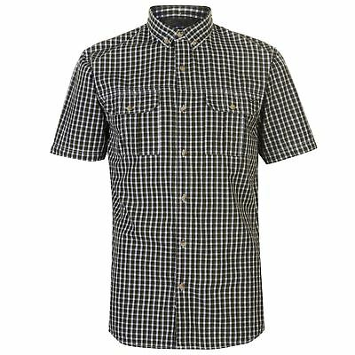 Regatta Mens Rainor Casual Shirt Short Sleeve Breathable Cotton Button Placket
