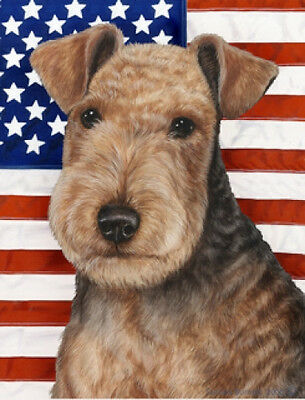Large Indoor/Outdoor Patriotic II Flag - Lakeland Terrier 32234