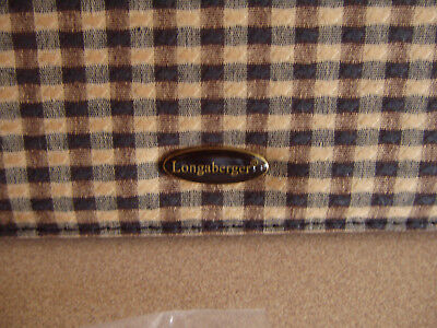 Longaberger Khaki Check Checkbook Cover Removable Photo Insert Nip Free Shipping