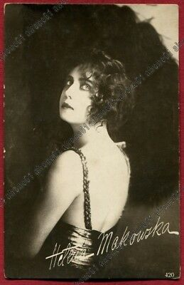 HELENA MAKOWSKA 11 ATTRICE ACTRESS SCHAUSPIELERIN CINEMA MUTO SILENT real photo
