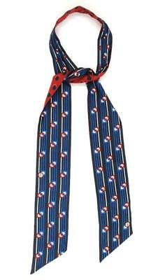 Tory Burch Blue & Red Silk Deco Dot Necktie NEW