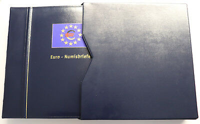12 x Euro Numisbriefe KMS Euro 2002 in Sammelordner - Top