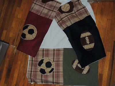 Nojo My Little Mvp Crib Skirt Dust Ruffle Sports Baseball Football Soccer