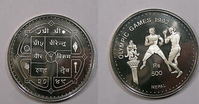 1992 Nepal One Ounce Sterling Silver Olympic Proof Inv#325-94