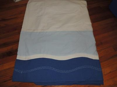 Kidsline Bubbles Crib Skirt Dust Ruffle Baby Nursery Blue Ocean Nautical