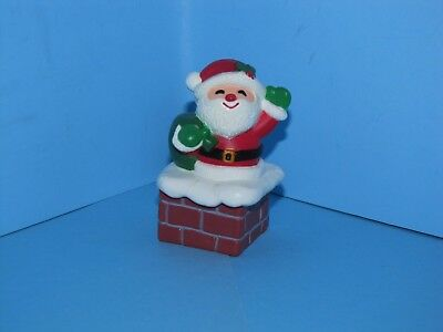 Hallmark Merry Miniature Christmas Container Santa Claus on Chimney 1984