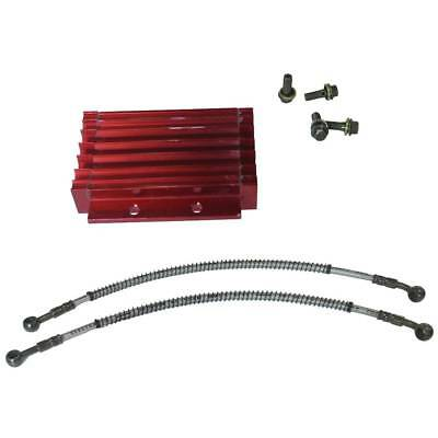 Oil Cooler Kit Radiator Cooling For ATV Dirt Bike 125 138cc Red CNC Motorcycle
