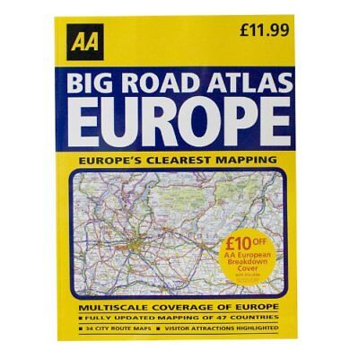 AA Big Road Atlas 2011 - Europe Book The Cheap Fast Free Post