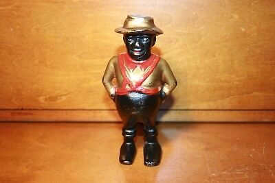 Original Black Americana Cast Iron DARKEY SHARECROPPER Bank A.C. Williams c 1901