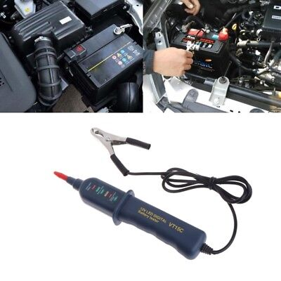 Digital 12V Battery Auto Alternator Tester with 6 LED For Car Motorcycle Truck