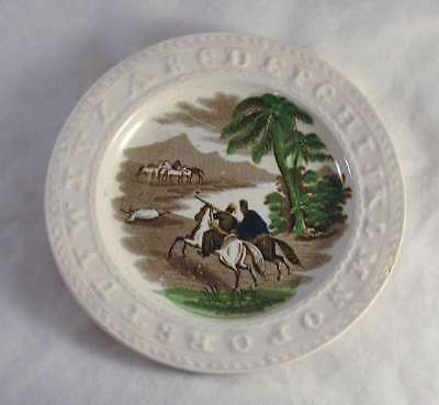 Soft Paste ABC Small Plate Desert Hunt By J & G Meakin