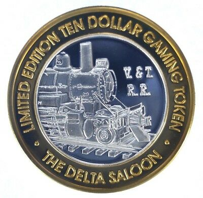 Virginia City the Delta Saloon $10 Silver Gaming Strike (ss1.33)