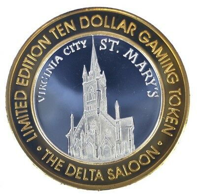 Virginia City The Delta Saloon $10 Silver Gaming Strike (ss1.48)