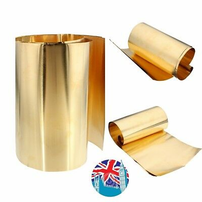 New Brass Metal Thin Sheet Foil Plate Shim 0.1mm Thick 200mm x 1000mm UK Stock