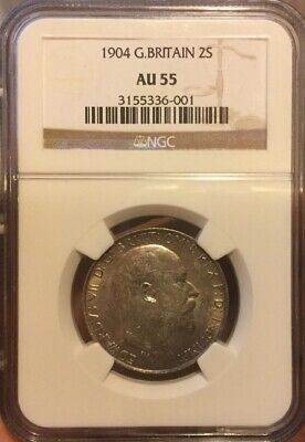 Great Britain Edward Vii 1903 Florin Choice Uncirculated Certified Ngc Ms63