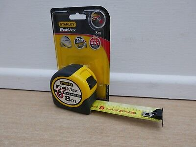 Stanley Fatmax  8M Magnetic Tip Tape Measure Metric Only 32Mm Blade 0 33 868