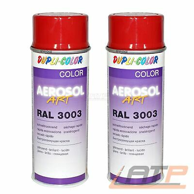 2x 400ml DUPLI COLOR AEROSOL ART RAL 3003 ROT GLANZ LACKSPRAY SPRÜH LACK