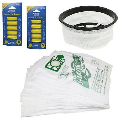 """Vacuum Cleaner Hoover 12"""" Filter 10 Bags & Air Fresheners Kit For Numatic James"""