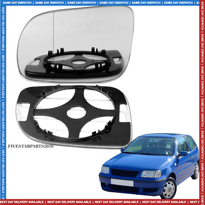 For VW Polo 94-99 Right Driver side Flat Electric wing door mirror glass plate