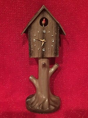 Antique Keebler Lux Waterbury Black Forest Novelty Cuckoo Clock Bobbing Bird GRO