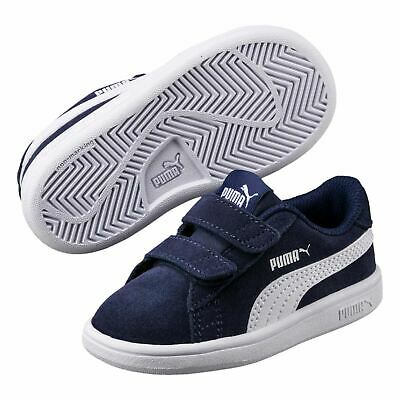 Puma Kids Boys Smash Suede Child Trainers Strap Comfortable Fit Everyday Tonal