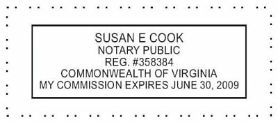 State of Virginia | Custom Rectangle Self-Inking NOTARY SEAL RUBBER STAMP