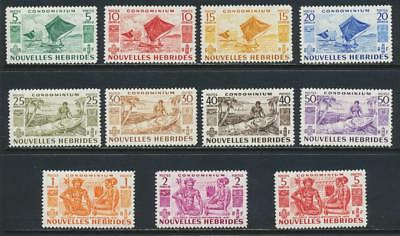New Hebrides 1953 French Set, Vf Lh Sg#f81-91 Cat£75 (See Below)