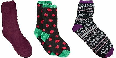 Charter Club Women/'s Super Soft Fluffy Socks 2 Pairs 2 Designs NWT