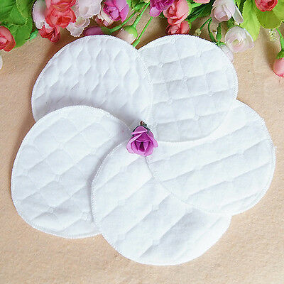 12PCS Reusable Nursing Breast Pads Washable Soft Absorbent Breastfeeding Baby