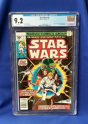 Marvel Comics Star Wars #1 1977 Graded CGC 9.2 WHITE PAGES First Print