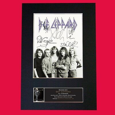 DEF LEPPARD (RARE) Quality Autograph Mounted Signed Photo Repro Print A4 695