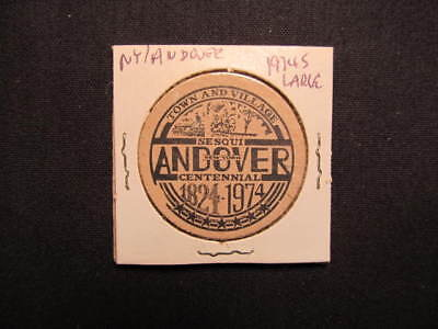 1974 Andover, New York Wooden Nickel token - Andover, NY 150th Wooden Coin BLK