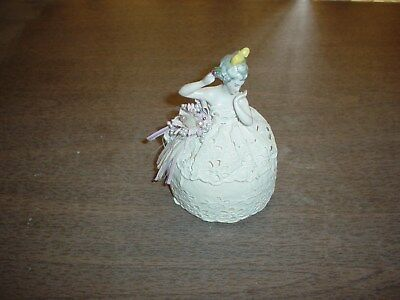 Beautiful Antique Vintage Half Doll Pincushion Excellent Detail - Likely German?